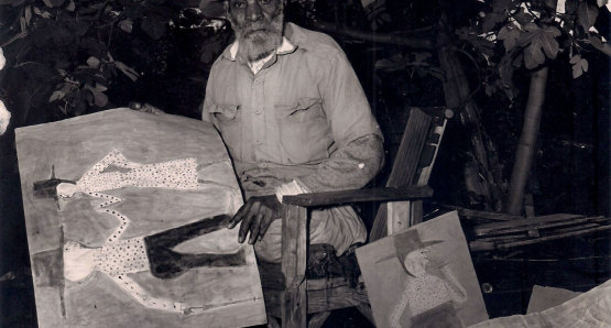 Bill Traylor. Photo by Albert Kraus. Courtesy of the Collection of Tommy Giles Photographic Service.