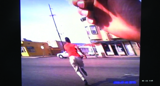 Body cam footage from the Oakland Police Department, courtesy Kino Lorber