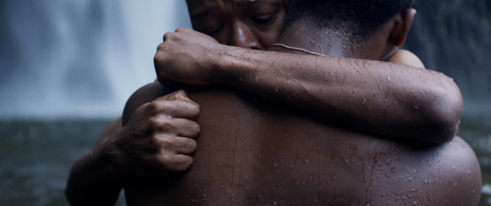 Nakhane Touré and Bongile Mantsai in <i>The Wound</i>, courtesy Kino Lorber
