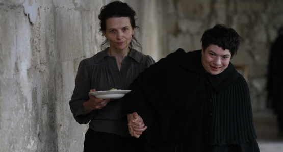 Juliette Binoche as Camille Claudel and Alexandra Lucas as Mademoiselle Lucas in CAMILLE CLAUDEL 1915, a film by Bruno Dumont.