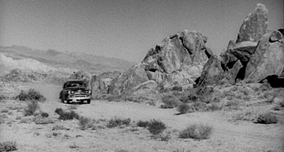 Ida Lupino's THE HITCH-HIKER is a prototypical noir film set in an environment more normally seen in a western.