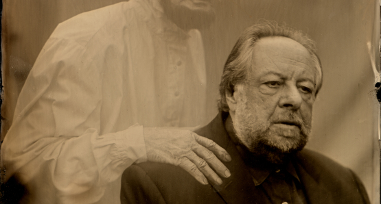 Ricky Jay and Mentor, photo by Stephen Berkman